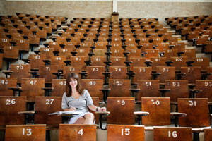 student-in-auditorium